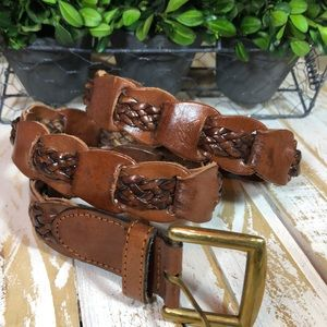 Capezio Braided Leather Belt
